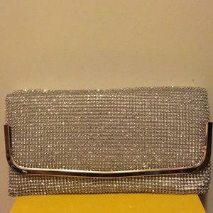 Lulu Townsend sparkly silver clutch